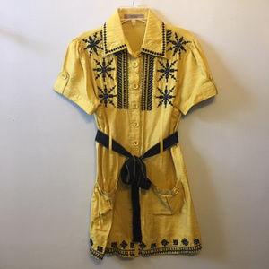 ad hoc Anthropologie Mustard/Black Tunic Med